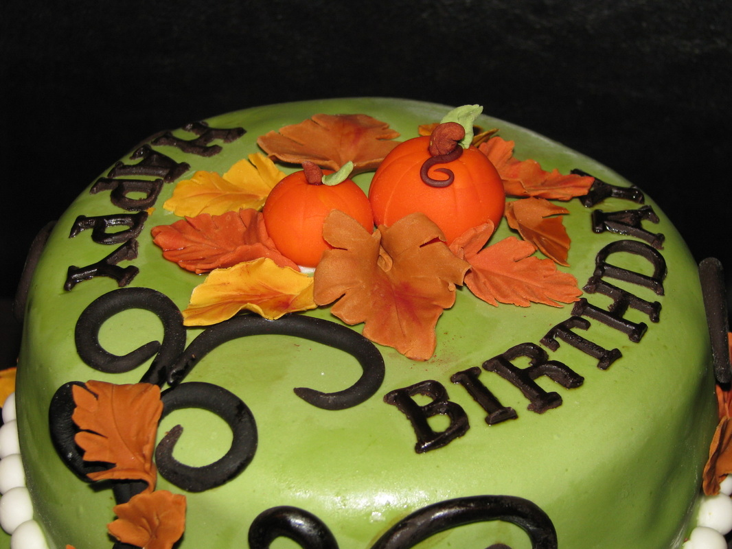 Autumn Themed Birthday Cake
